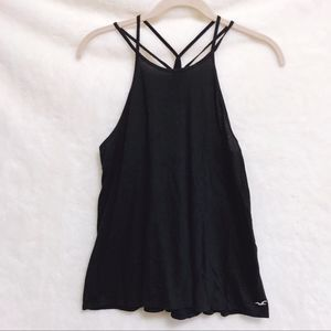 Hollister Black Strappy Racerback Tank Top